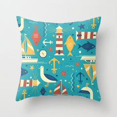 All At Sea Throw Pillow