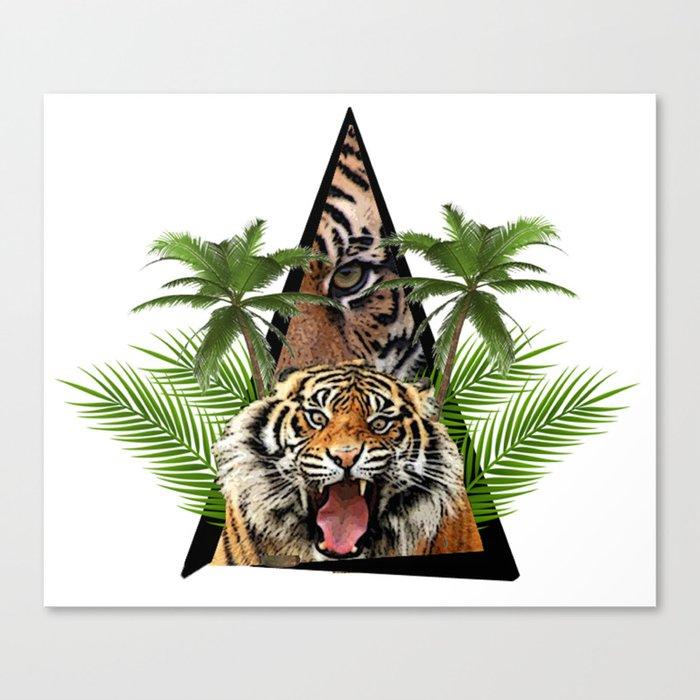 Tiger Jungle ArtWork Canvas Print