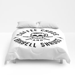 Coffee Chugs And Barbell Shrugs v2 Comforters