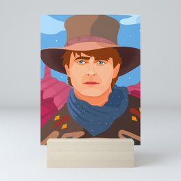 Back to the Future III Mini Art Print
