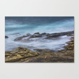 Misty Ocean Blur Canvas Print