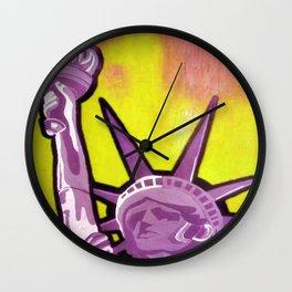 POP LIBERTE YELLOW BY ANDREAPOPNAIF Wall Clock