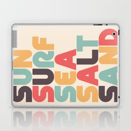 Retro Sun Surf Sea Salt Sand Typography Laptop & iPad Skin