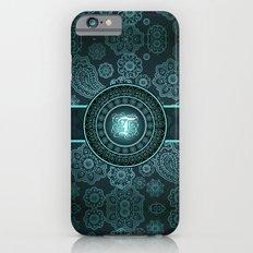 Monogrammed Aridi T Teal iPhone 6 Slim Case