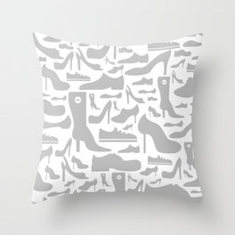 Footwear a background Throw Pillow