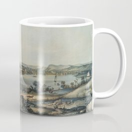 Vintage Pictorial Map of New Haven CT (1849) Coffee Mug
