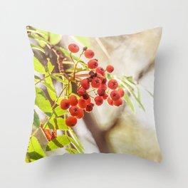 Rowan berries Throw Pillow