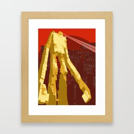 Slice Framed Art Print