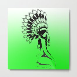 Pow Wow Hottie Metal Print