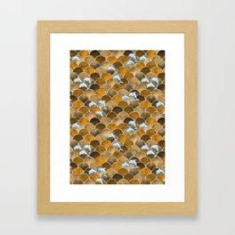 Wave Jumpers (Amber) Framed Art Print