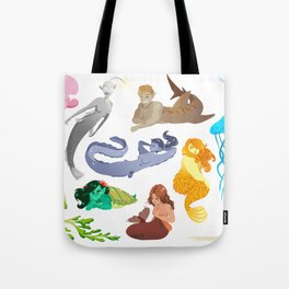 Unconventional Mermaids Tote Bag