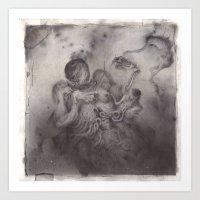Greasy Bones. Art Print