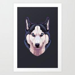 Ice Eyes Art Print