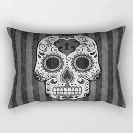 Día de los Muertos - Grey Rectangular Pillow