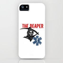 We Race The Reaper Paramedic Caduceus Doctor Nurse EMT EMS Gift iPhone Case