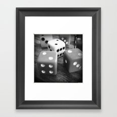 It's a game of chance... Framed Art Print
