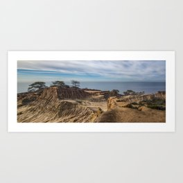 Mid-morning at Broken Hill Trail, Torrey Pines State Park, San Diego, California Art Print