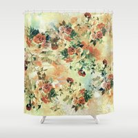 roses Shower Curtains featuring Roses by RIZA PEKER