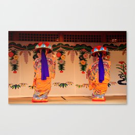 Traditional dancers in Okinawa Canvas Print