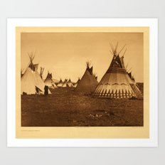 VINTAGE NATIVE AMERICAN PHOTO Art Print