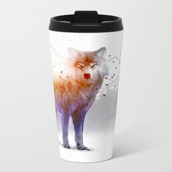 A Wilderness Within / Wolf Metal Travel Mug