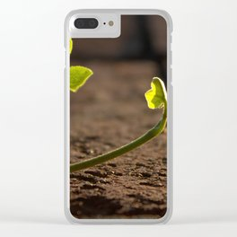 Ivy Leaf with Back Lighting Clear iPhone Case