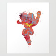 Wonder . Woman Superhero Art Print