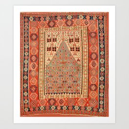 Antique Erzurum Turkish Kilim Rug Print Kunstdrucke