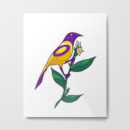 Pride Birds - Intersex Metal Print