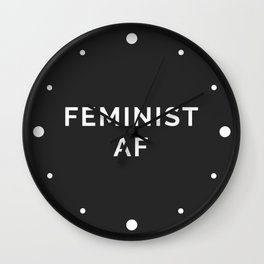 Feminist AF Quote Wall Clock