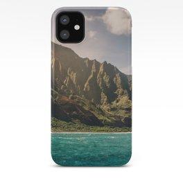 Na Pali Coast Kauai Hawaii Printable Wall Art | Tropical Beach Nature Ocean Coastal Travel Photography Print iPhone Case