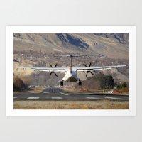 ATR ATR-42-500 Aviation Scenic Dangerous No way out Landing aircraft Art Print