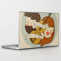 nan lawson Laptop & iPad Skins featuring Music Is All Around by Nan Lawson
