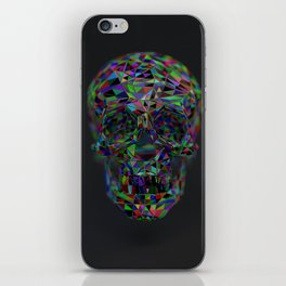 Skull Low-Poly Color iPhone Skin