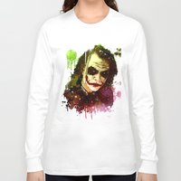 joker Long Sleeve T-shirts featuring Joker by Sirenphotos