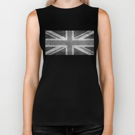 British Union Jack flag 1:2 scale retro grunge Biker Tank