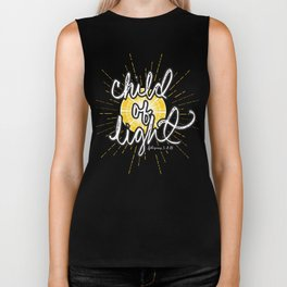 "EPHESIANS 5:8-10 ""CHILD OF LIGHT"" (dark) Biker Tank"