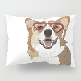 Happy Valentine's Day Corgi Pillow Sham