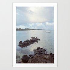 Sunrise in Mauritius Art Print