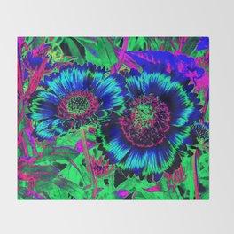 Hippie Flowers Throw Blanket