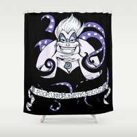 ursula Shower Curtains featuring Ursula by ArielPerrenot