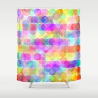 bubbles Shower Curtains featuring Bubbles by Ornaart