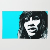 tina crespo Area & Throw Rugs featuring Tina Turner by ChrisGreavesCreative