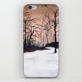 Night Snow Watercolor iPhone Skin