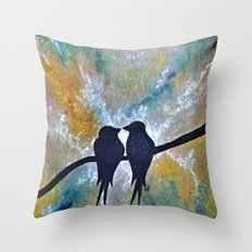 Valentines Love Birds Throw Pillow