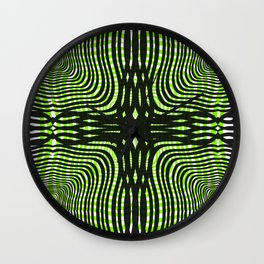 Zebra gone mad Wall Clock