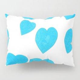 Many Blue Hearts Pillow Sham