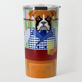 Boxer Dog Beer Pub Travel Mug
