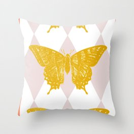 Honey Swallowtail Butterfly Throw Pillow