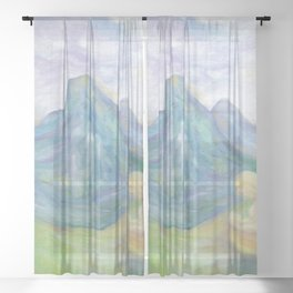 Spirits Of Mountains, Pyrenees, angels Sheer Curtain